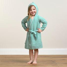 Muslin bathrobe mint