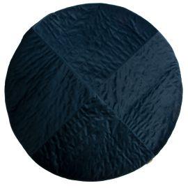 Kilimanjaro velvet carpet 105x105 cm - Night blue