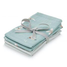 Wash cloth muslin - 4 Pack - Mix Windflower Blue, Etoile Blue