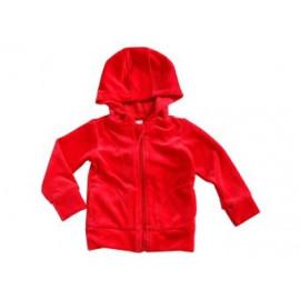 sweat à capuche bébé en velours rouge (50-92)