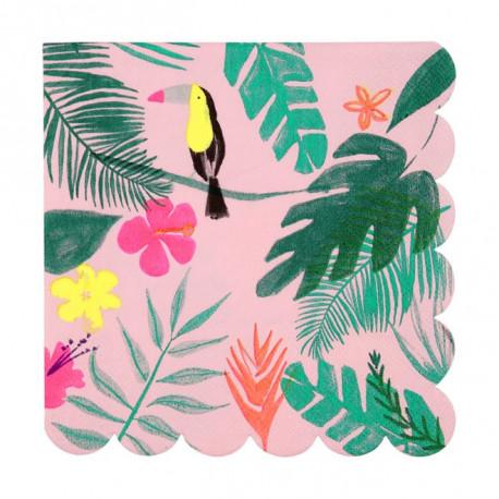 Pink tropical napkins L