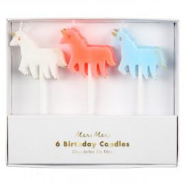 Unicorn set candles