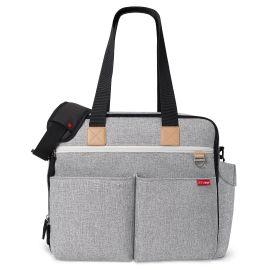 duo weekender diaper bag - grey melange