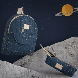 Too cool kid backpack - Gold stella Night blue
